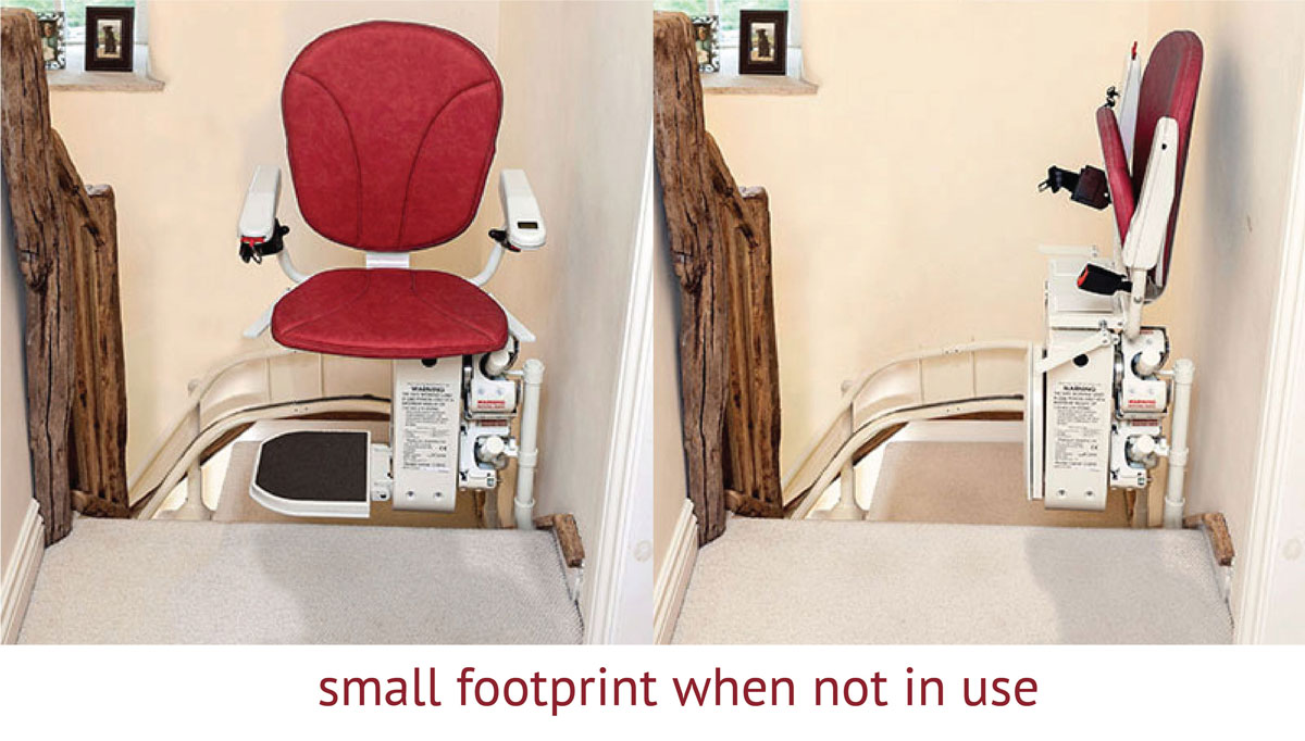 curved stair lift small footprint